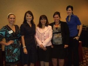 Alison Bailin, Christina Leonard, Janet Perez, Jolinda Nestor and (the VERY TALL!) Allie Bell