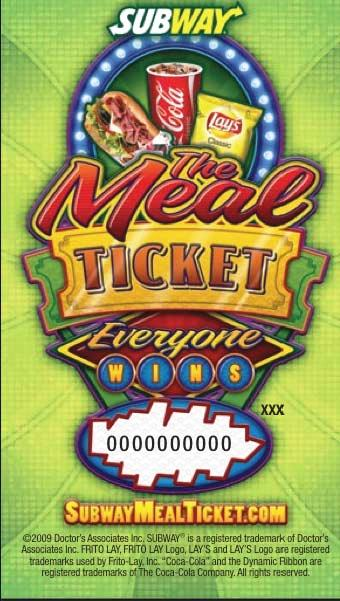 Subway Meal Ticket