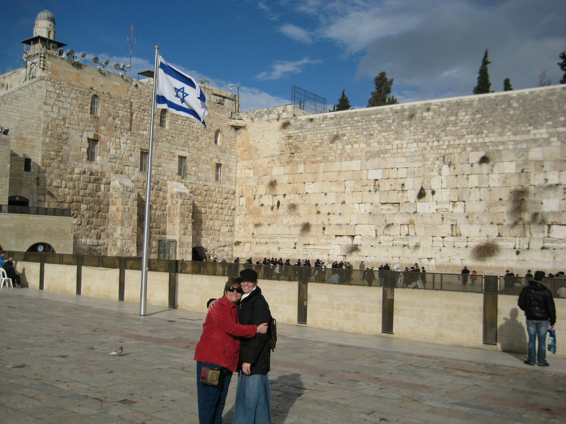 Abbie and Donna at the Kotel